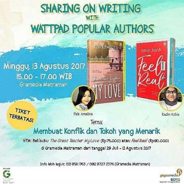 sharing on writing with Fala Amalia dan Radin Azkia