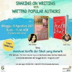 sharing on writing with Fala Amalia dan Radin Azkia