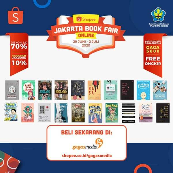 GagasMedia Jakarta Book Fair Online di Shopee